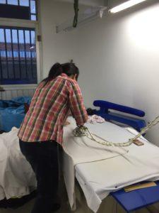 中国縫製工場画像